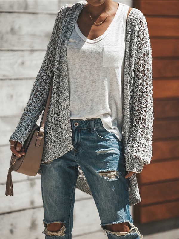 Fuzzy Feels Crochet Cardigan