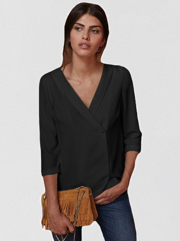 Get Lost V Neck Blouse
