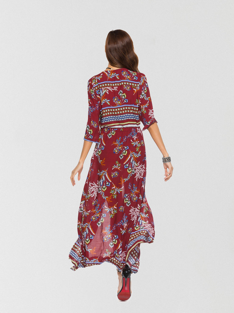 30d8aa0a14781 Going Somewhere Floral Button Down Maxi Dress | Inxcy Midi & Maxi ...