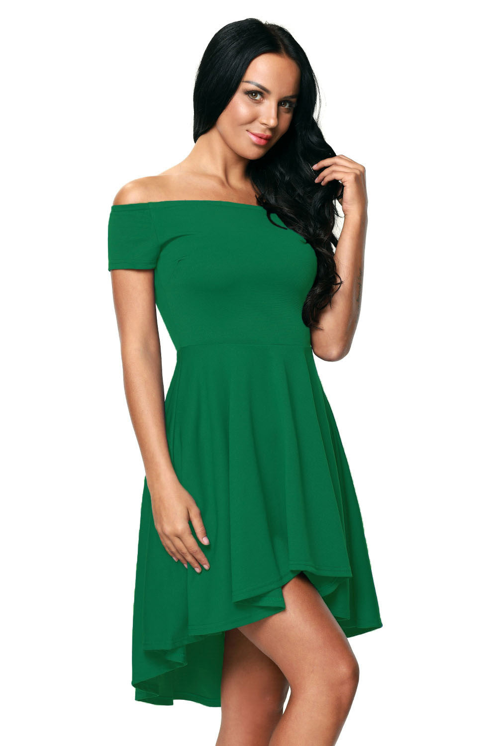 Green All The Rage Skater Dress