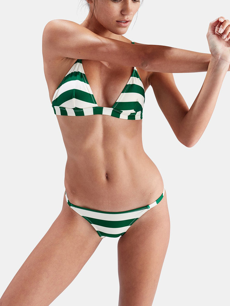 Happy Hour Striped Triangle Two-Piece Bikini
