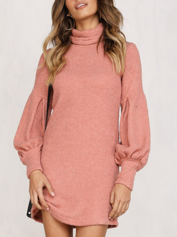 Helena Knitted Cold Neck Mini Dress