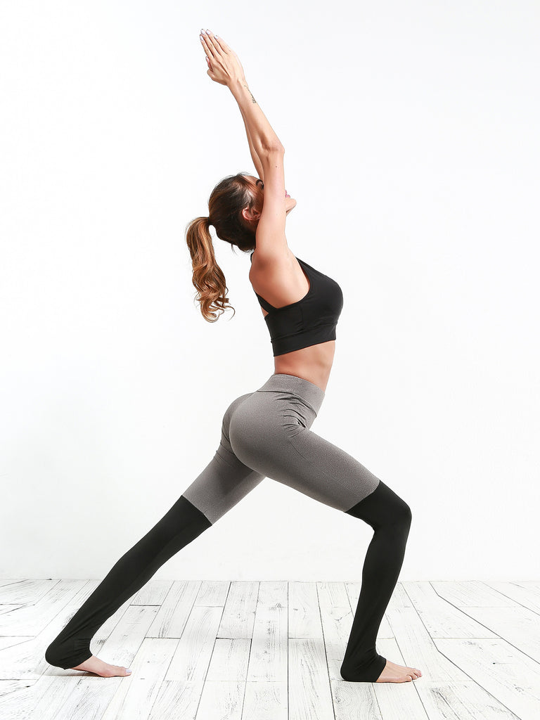 High-rise sports legging featuring a next-to-skin fit and color block design