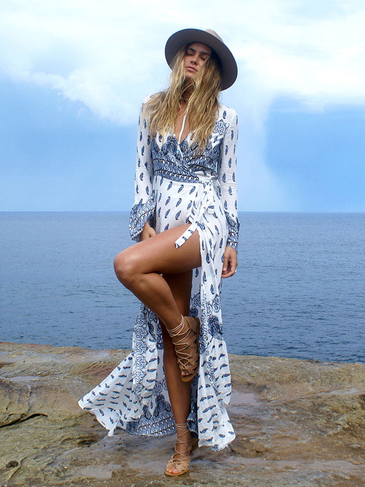 boho dresses maxi dresses with free shipping flared sleeves