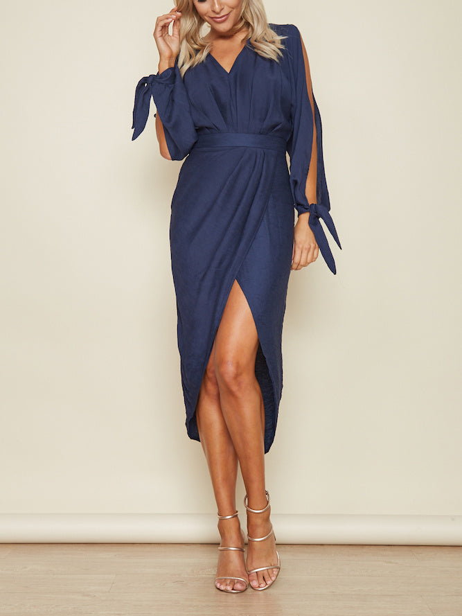 Caught Your Eye High Slit Midi Dress
