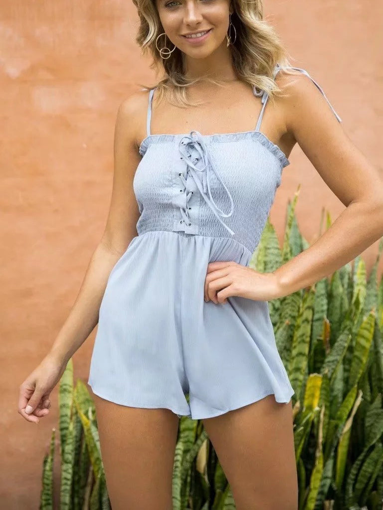 It's A Wrap Smocked Chiffon Romper