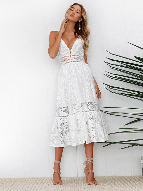 It's About Love Lace Midi Dress