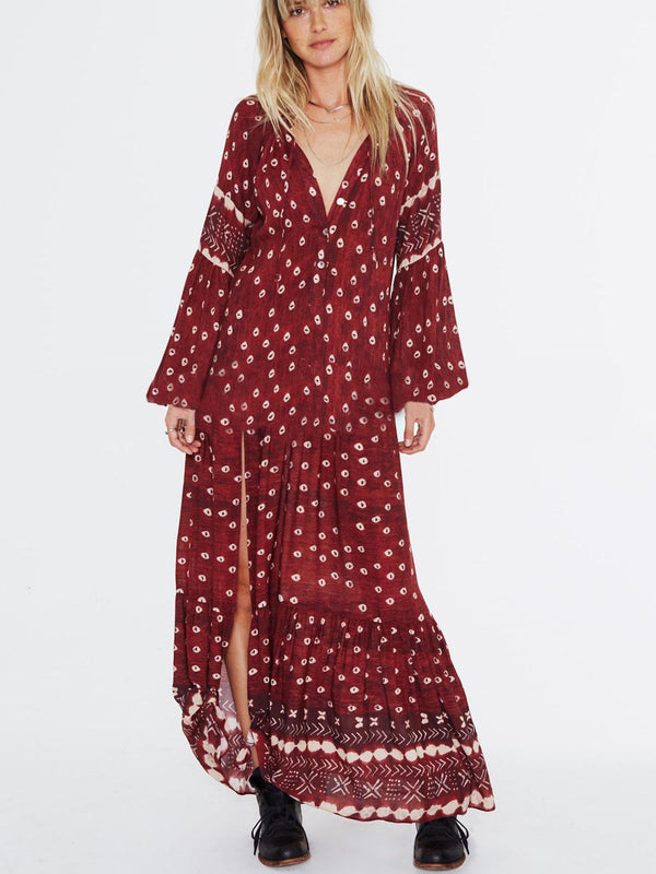Keep It Boho Printed Oversize Maxi Dresss