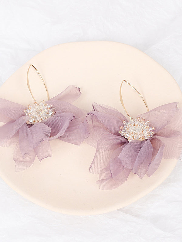 Lacy Style Drop Earrings