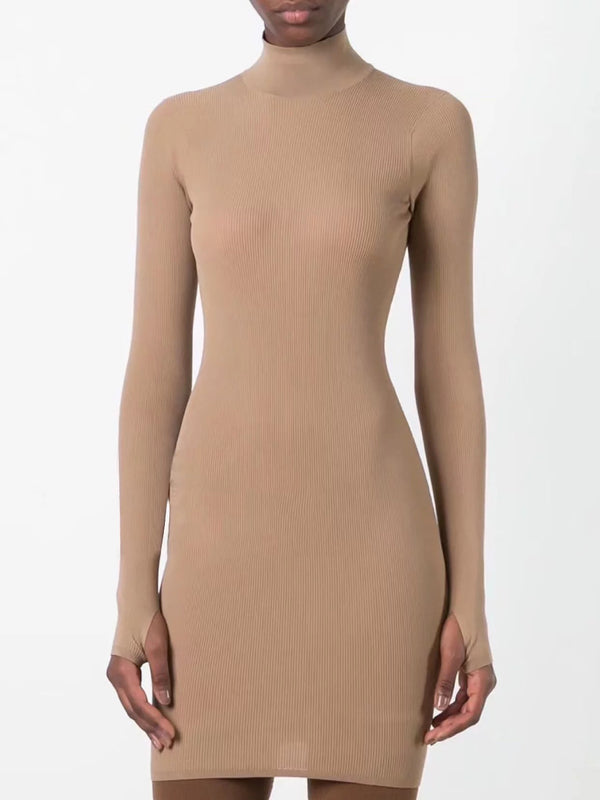 Lea Cowl Neck Knitted Bodycon Dress