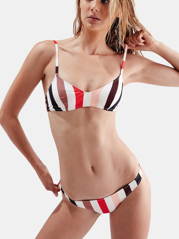 Lookin' Cool Striped Two-Piece Swimsuit