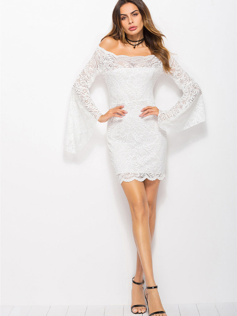 5e63d2ee1c Love Like This Off-The-Shoulder Lace Dress – INXCY
