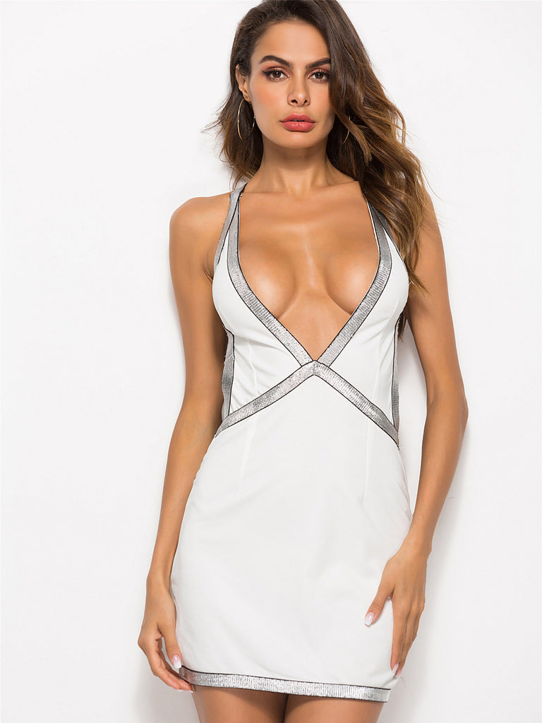 89b479cb75 Love Of My Life Plunging Neck Bodycon Dress – INXCY