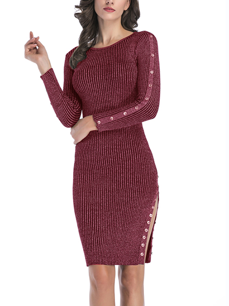 Love This Ribbed Knit Sweater Dress
