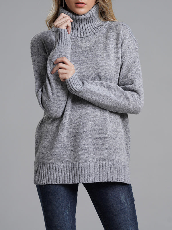 Much Better Ribbed Knit Turtleneck Sweater
