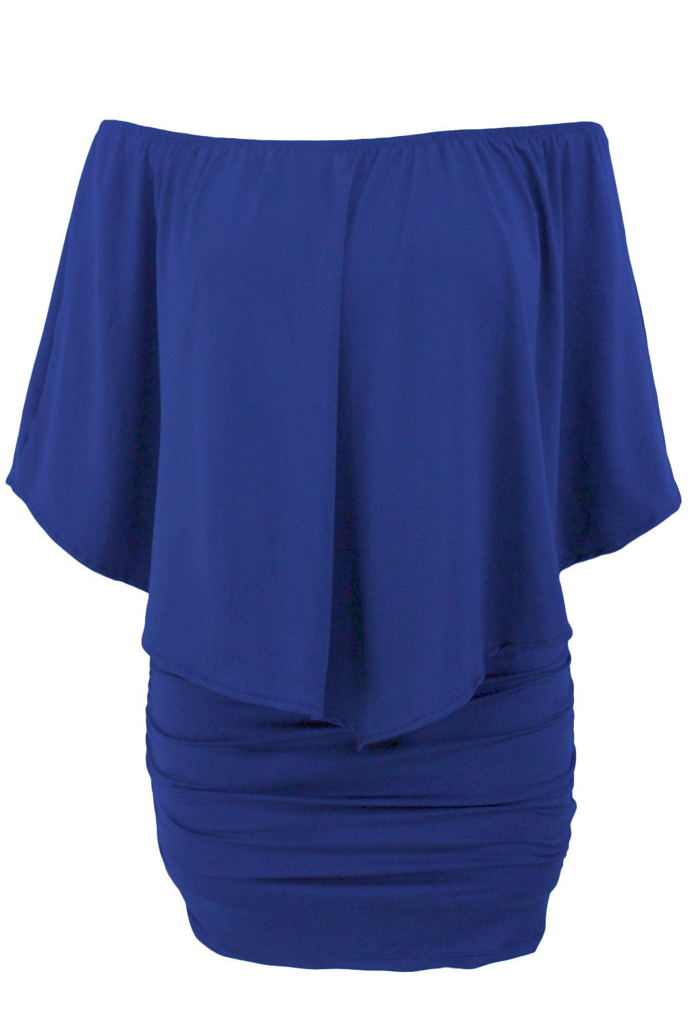 Multiple Dressing Layered Blue Mini Dress