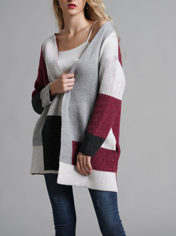 Perfect Color Block Sweater Coat
