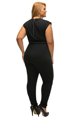 Make A Move Plus Size Cut Out Jumpsuit