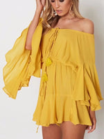 Rock Candy Off-The-Shouilder Chiffon Romper
