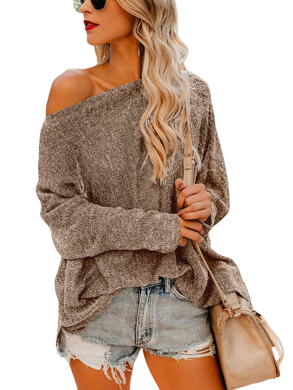 Silvia One-Shoulder Slouchy Pullover