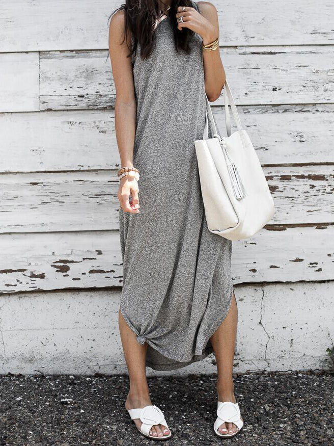 Simple As Can Be Seamless Midi Dress