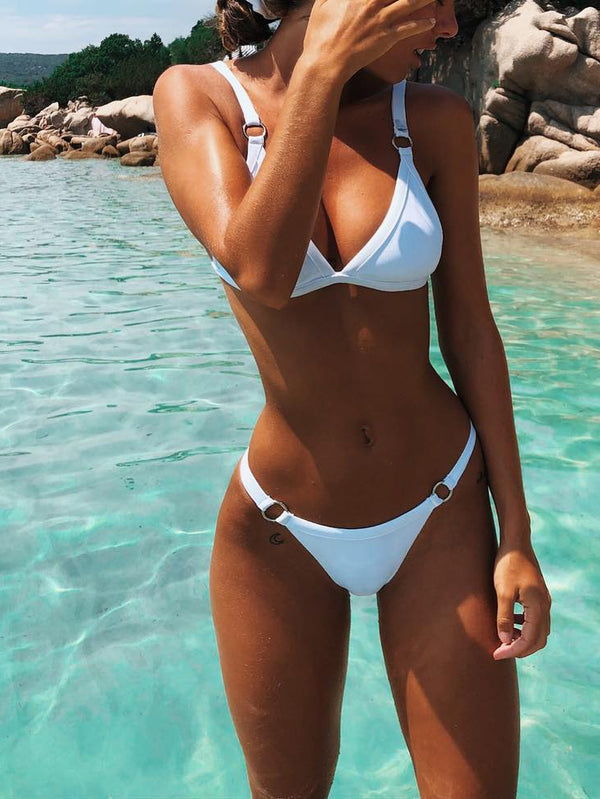 Simple As Can Be Triangle Two-Piece Swimsuit