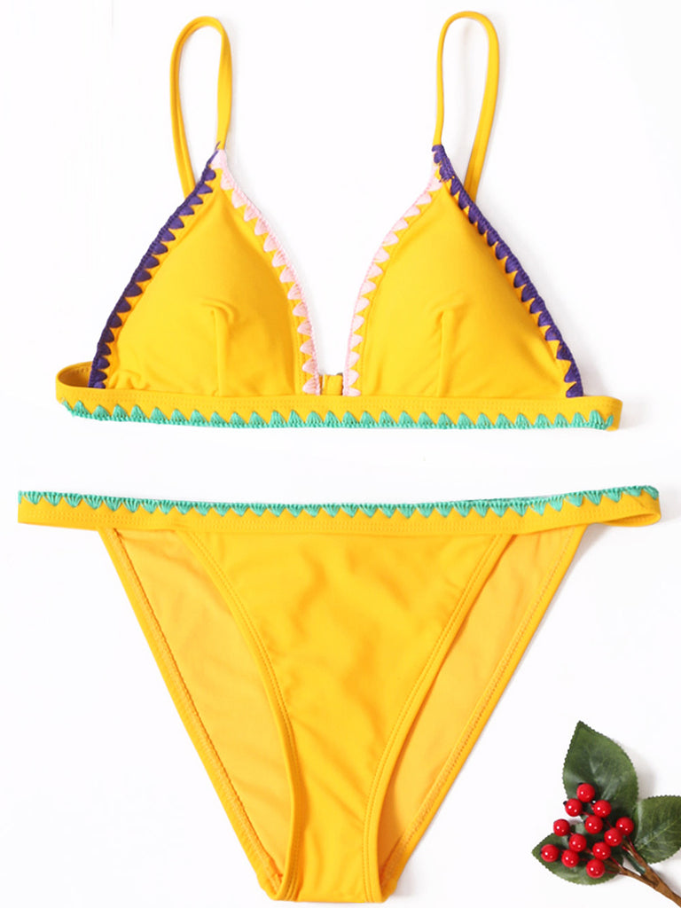 So Bright Triangle Two-Piece Swimsuit