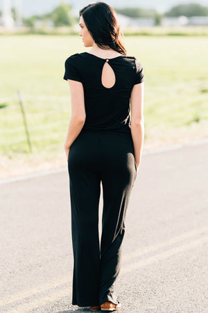 So In Love Short Sleeve Jumpsuit