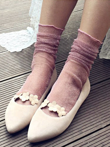Softly Structured Fishnet 3-Pack Ankle Socks
