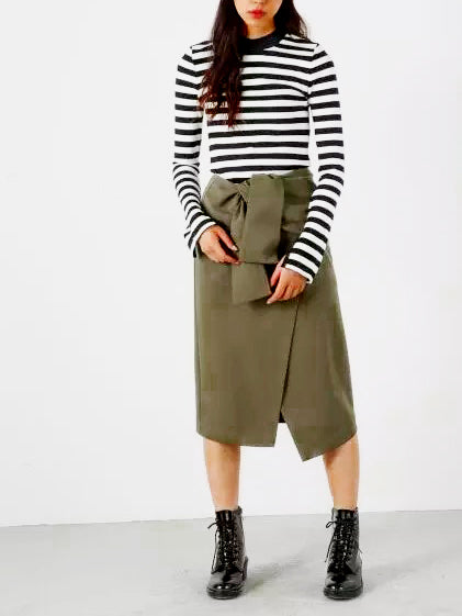 Cut To The Chase Midi Skirt