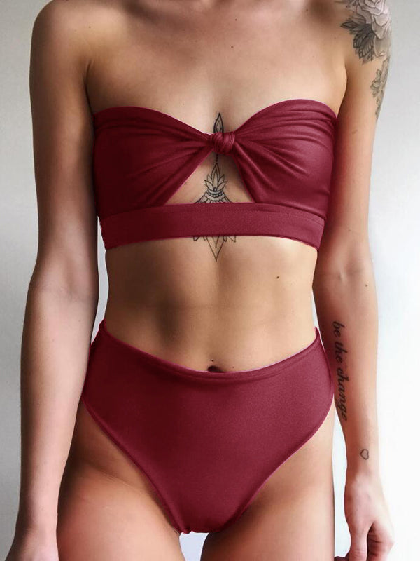 In The Mood for This High Waist Swimsuit