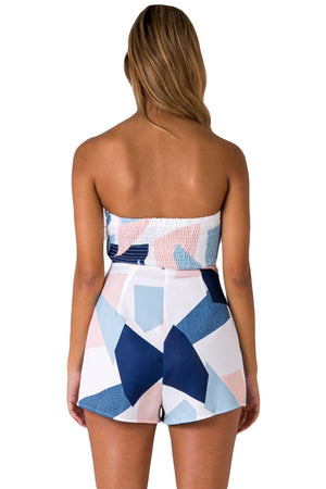 Little Bit Of Love Color Block Off Shoulder Romper