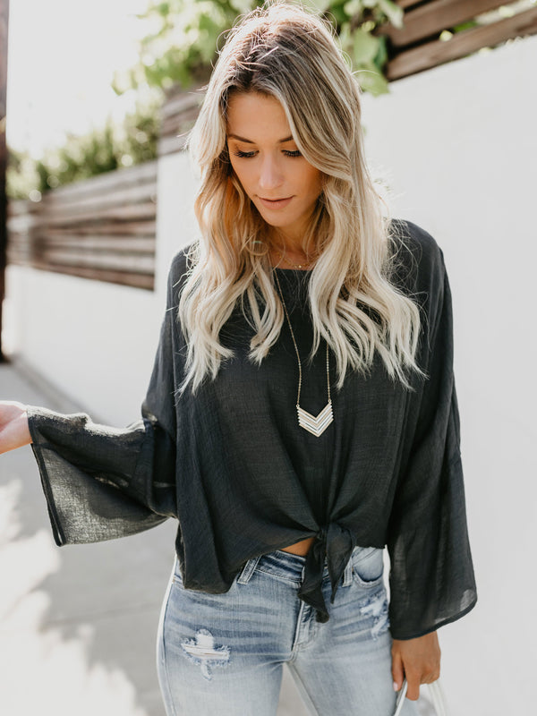 Sunday Morning Slouchy Knotted Blouse