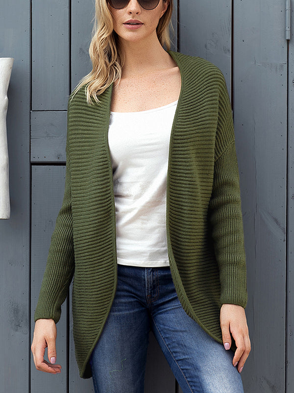 Sunday Ribbed Knit Lace-Up Cardigan