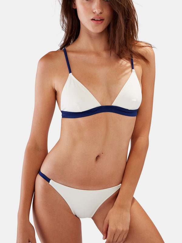 Tabitha Striped Triangle Two-Piece Swimsuit