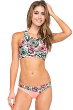The Promise Floral Print Strappy Two-Piece Swimsuit