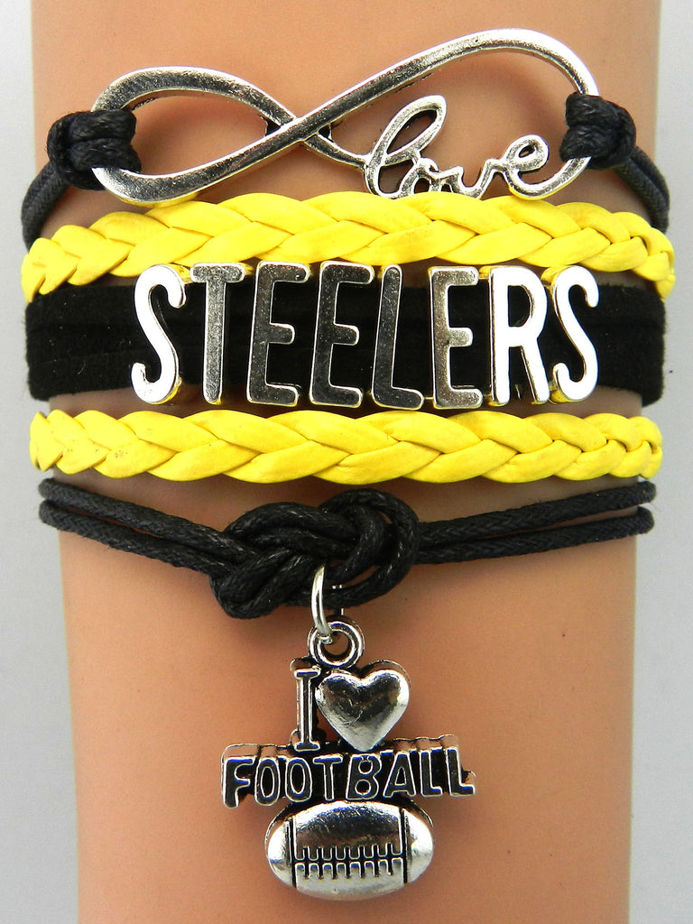 The Pittsburgh Steelers wristlet NFL bracelet football wristband