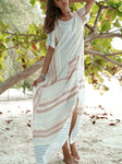 The Sunchaser Striped Color-Block Maxi Dress