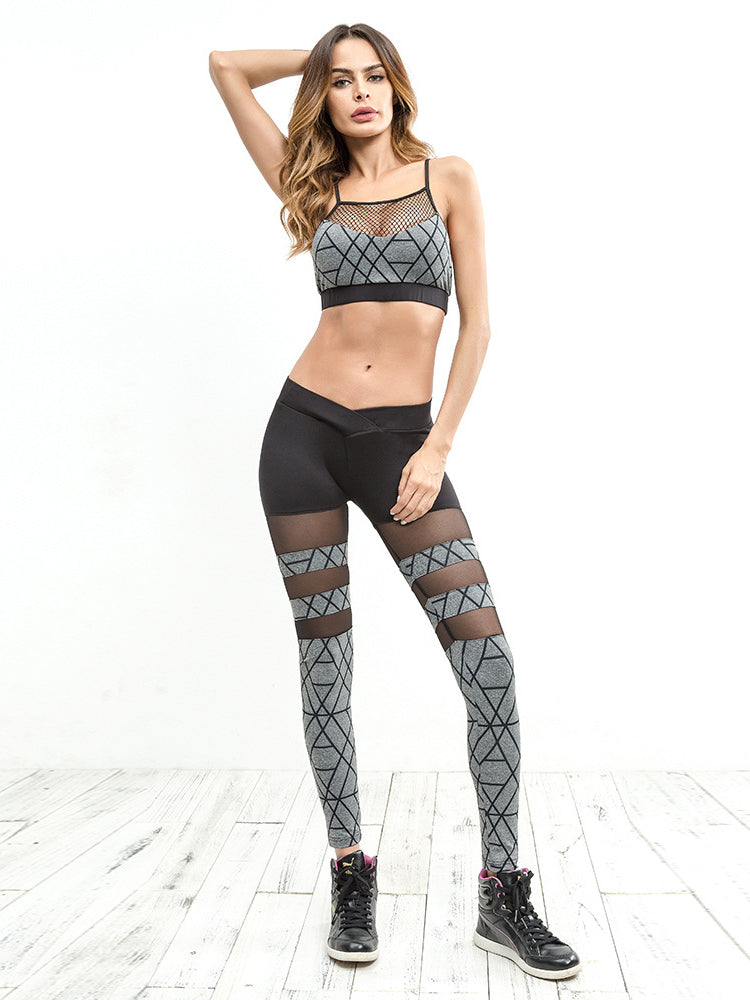 This compressive legging featured in a high-rise fit and cool mesh inserts for breathability