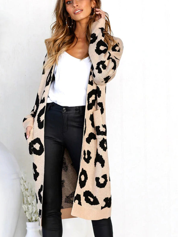 Until It's Winter Leopard Print Cardigan