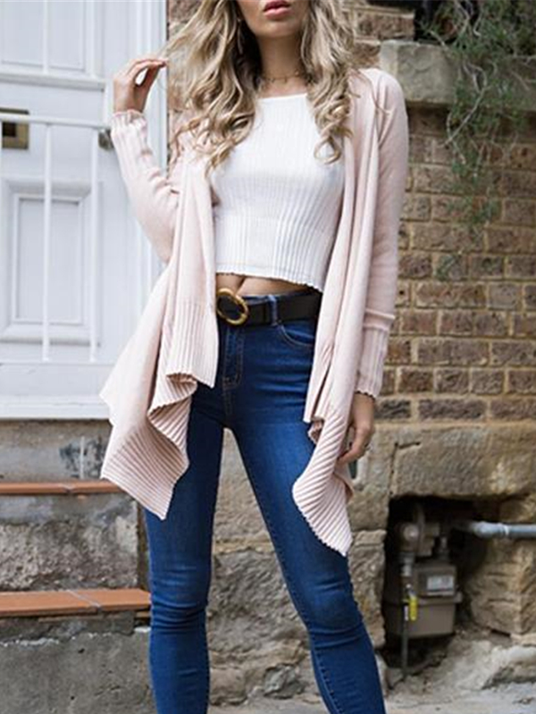 Until It's Winter Ribbed Knit Sweater Cardi