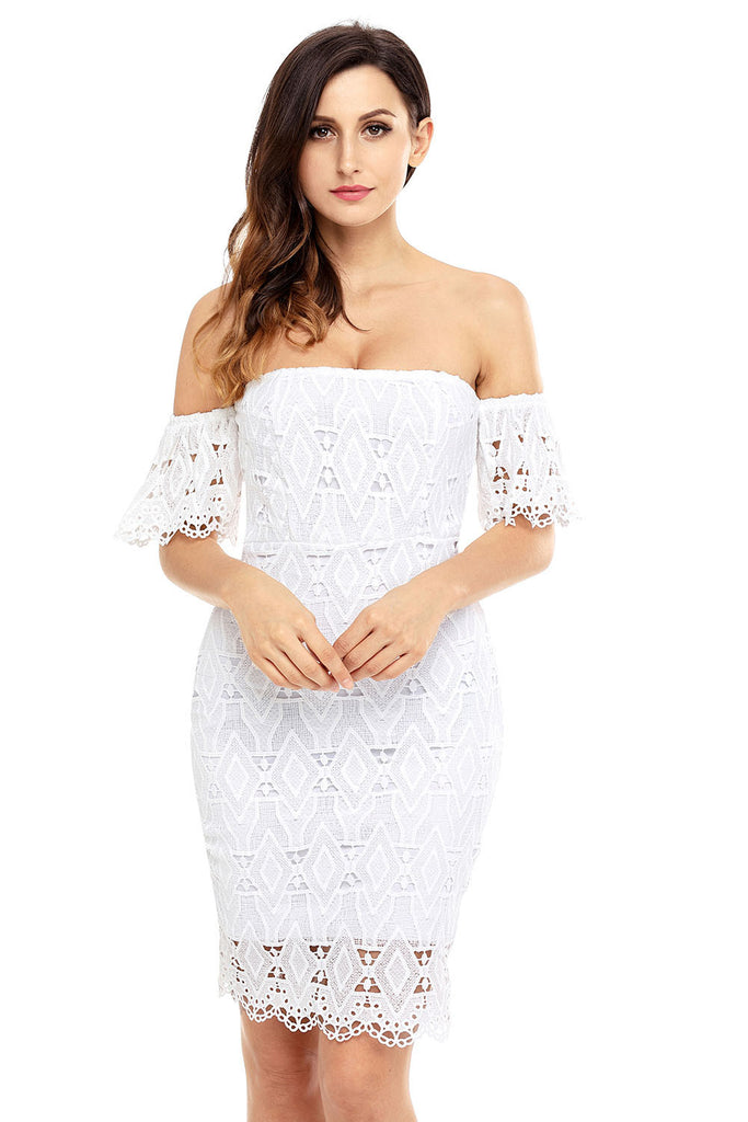 The True Love Off Shoulder Lace Dress