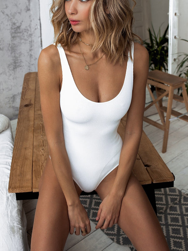 Willie Ribbed Scoop Neck One-Piece Bikini