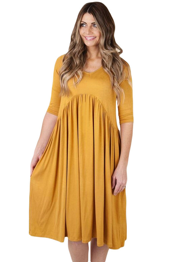 Live For Today Draped Swing Dress