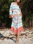 Your Type Tropical Print V Neck Maxi Dress