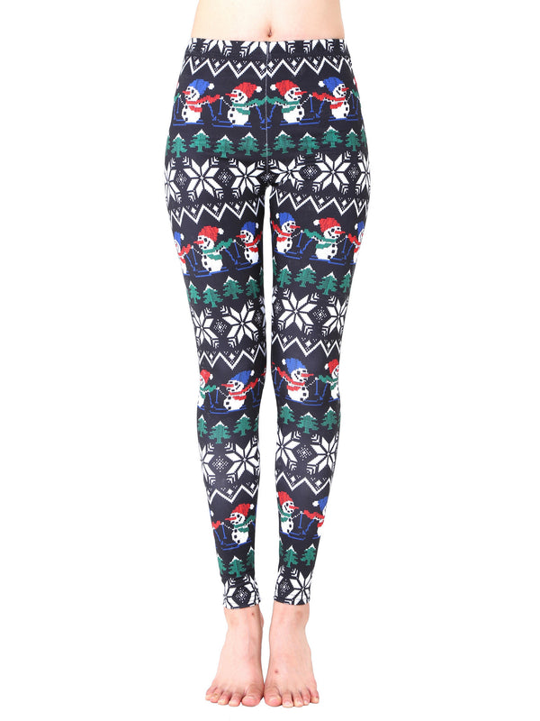Holiday Vibe Printed Ugly Christmas Leggings