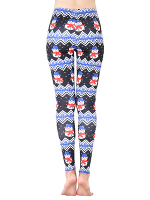 Little Snowman Printed Holiday Leggings