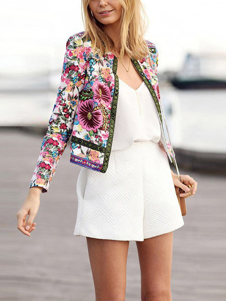 In The Moment Floral Print Jacket