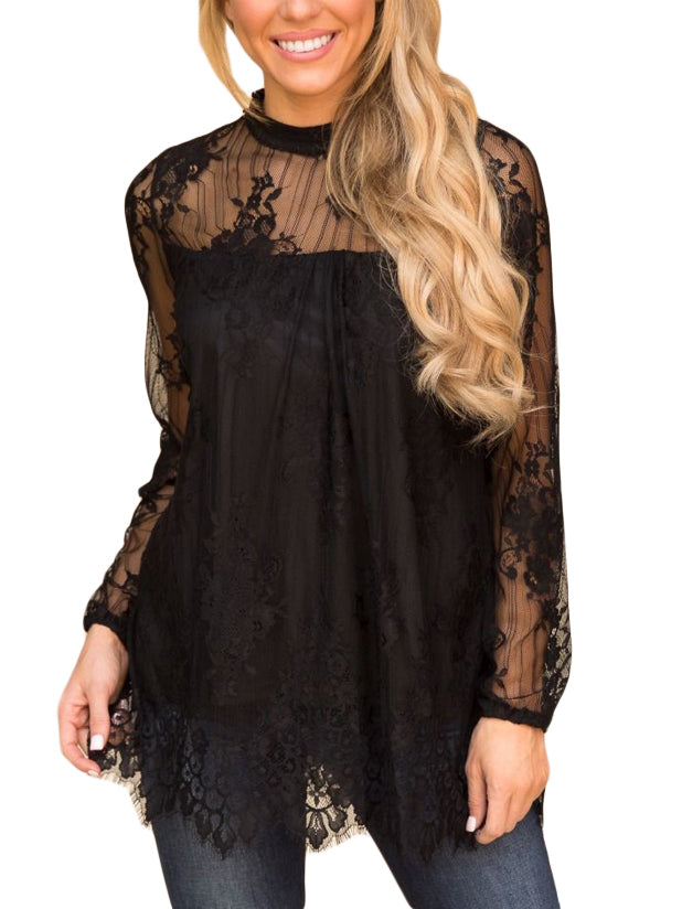All I Want Floral Lace Top