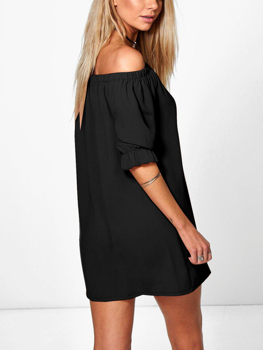 85da264db1 The Dreamer Off The Shoulder Button Down Dress – INXCY